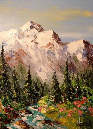 peintre de la montagne peintures montagne