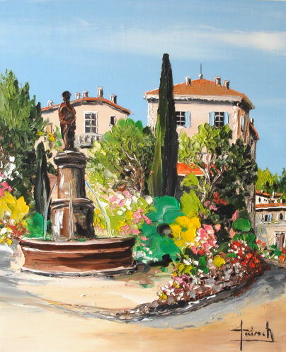 tableau peinture de mougins oil painting mougins christian guinet peintre de la couleur. Black Bedroom Furniture Sets. Home Design Ideas