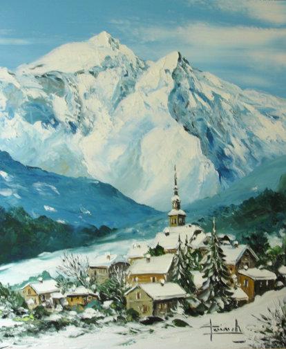 Montagne christian guinet peintre de la couleur - Tableau peinture blanc ...